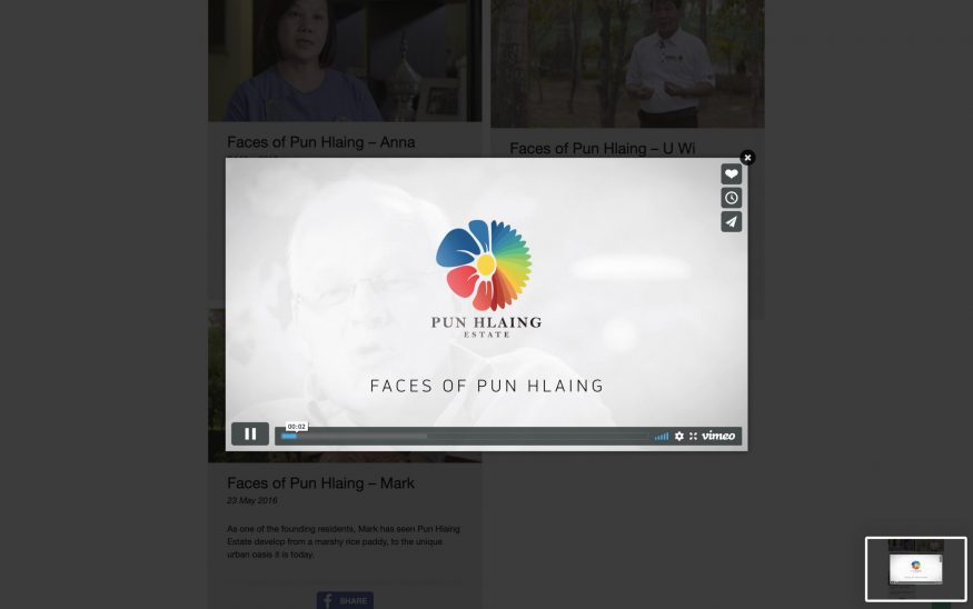 Pun Hlaing multimedia page video popup